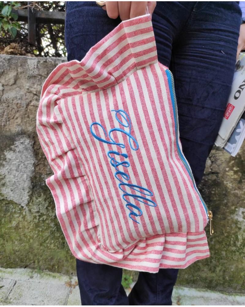 Borsello con rouche Capri
