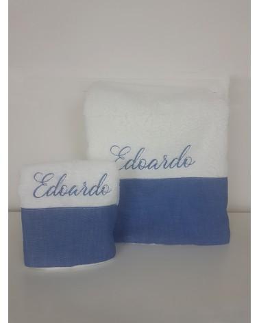 Coppia di asciugamani in spugna