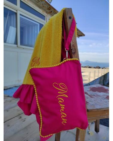 Beach set Santa Lucia, Telo Mare in Spugna con Rouche