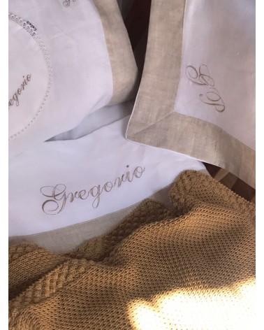 Lenzuolino Gregorio in lino bianco